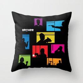Archer Intro Throw Pillow