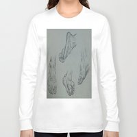 feet Long Sleeve T-shirts featuring Feet by Esteban Garza