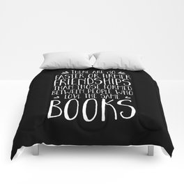 Bookish Friendship (inverted) Comforters