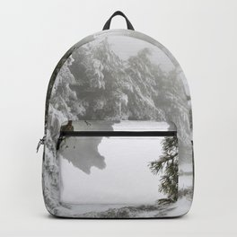 """""""Snowy forest"""". At the foggy mountains... Backpack"""