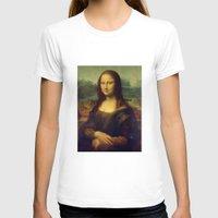 mona lisa T-shirts featuring Mona Lisa by Leonardo da Vinci by Palazzo Art Gallery