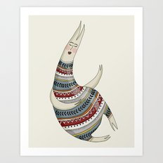 Pattern Monster Art Print