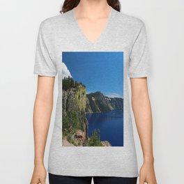 Crater Lake  and Lavacliffs Unisex V-Neck