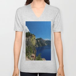 Crater Lake  and Lavacliffs Unisex V-Neck