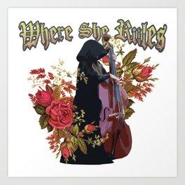 Amanda: Victorian Flower Series, Where She Rules Art Print