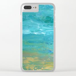 Summer Wave Clear iPhone Case