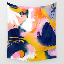 Deep Dream, Abstract Modern Painting, Eclectic Colorful Pop of Color Graphic Design Wall Tapestry