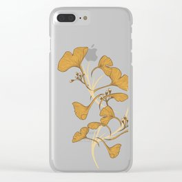 Gingko, Golden Life Clear iPhone Case