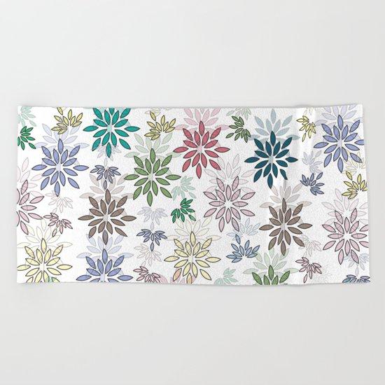 flowers Beach Towel