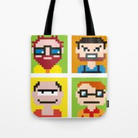avatar Tote Bags featuring Avatar by Alex Zel
