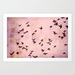Flying South 2 Art Print