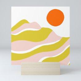 sierra mountain sunset Mini Art Print