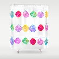 lanterns Shower Curtains featuring Lanterns by Kara Hayley