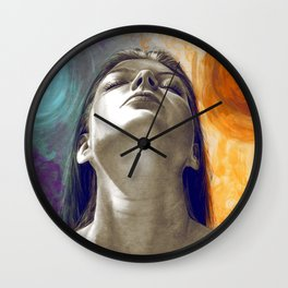 Equilibrum - retouched drawing Wall Clock