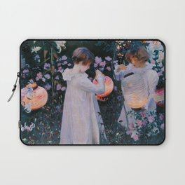 Carnation, Lily, Lily, Rose - John Singer Sargent Laptop Sleeve
