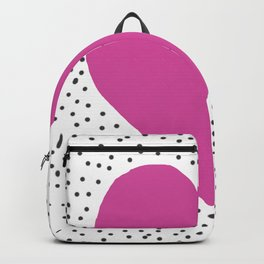 Pink heart with grey dots around Backpack