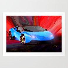 Lamborghini Huracán Art Print