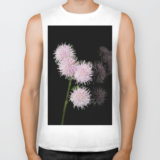 Pom pom Flower group Biker Tank