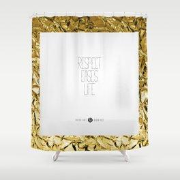 Golden Rules #4 Shower Curtain