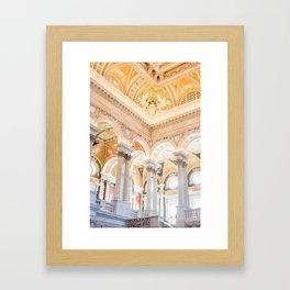 library of congress Framed Art Print