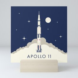 Apollo 11 Space - Saturn Rocket A Mini Art Print