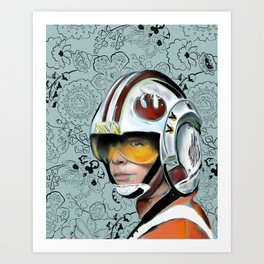 Luke Skywalker from Starwars Art Print