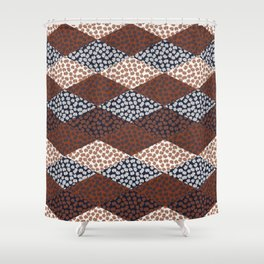 Patched Abstract Floral II Shower Curtain