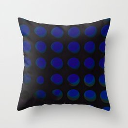 An abstract array of holes in metal and glass Throw Pillow