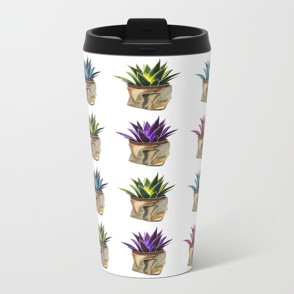 Cactus In Paper Bag Metal Travel Mug by Lenefredriksen MTM8822546