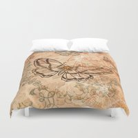 butterflies Duvet Covers featuring Butterflies by nicky2342