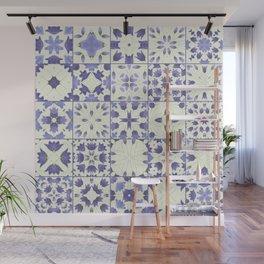 Flower Bell Azulejos Wall Mural