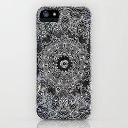 BLACK MANDALA BELLESA NEGRE iPhone Case