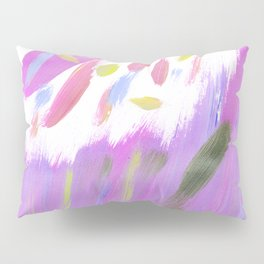 Hand painted neon pink lime green watercolor brushstrokes Pillow Sham