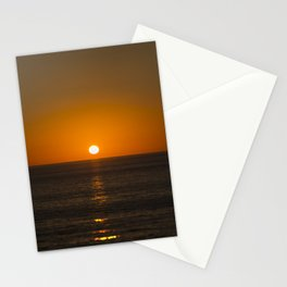 Pure Orange Sunset Stationery Cards