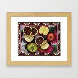 Apples and Blood Oranges Border One Framed Art Print