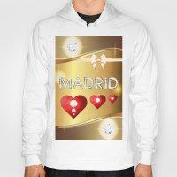 madrid Hoodies featuring Madrid 01 by Daftblue