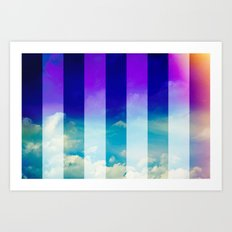 Blue Sky / Bold Stripes Art Print