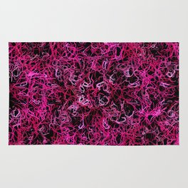 Hot Pink and Black Electric Lines Rug