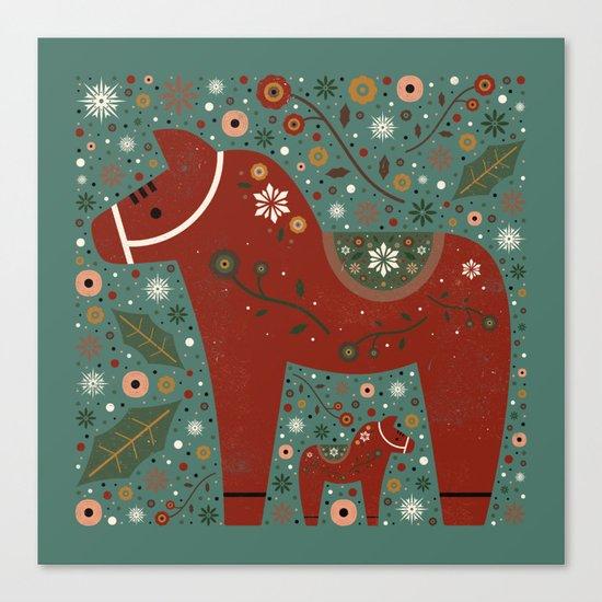 Jolly Dala Horse  Canvas Print