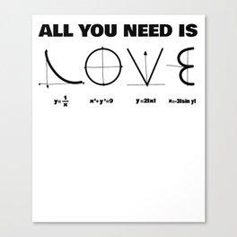 love mathematics nerdy equation funny gift Canvas Print
