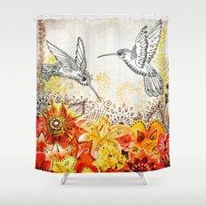 Hummingbird Garden Shower Curtain