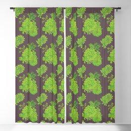 Succulent Pattern Blackout Curtain