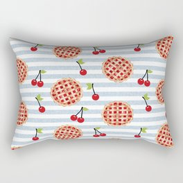 Pies with stripes trendy food fight apparel and gifts Rectangular Pillow