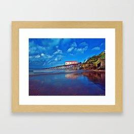 Tenby old lifeboat station Framed Art Print