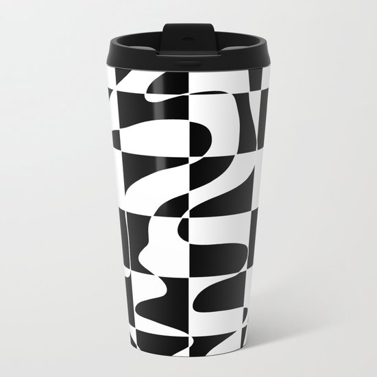 It's Not Always So Black And White Metal Travel Mug