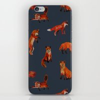 foxes iPhone & iPod Skins featuring Foxes by Katelyn Patton