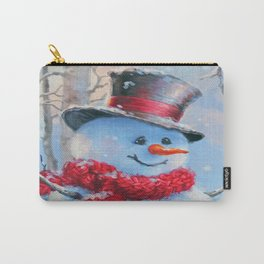 Snowman in the Woods Carry-All Pouch