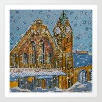 Metz in the Snow Art Print