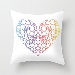 Fire & Ice Throw Pillow