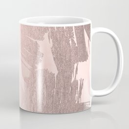 Rose Gold Pastel Pink Paint Brush Coffee Mug